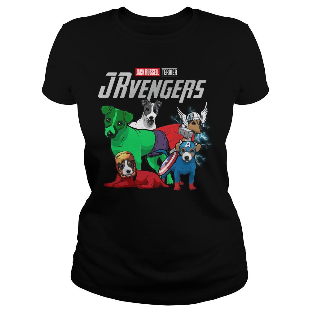 Marvel Jrvengers Jack Russell Terrier Version Ladies Tee