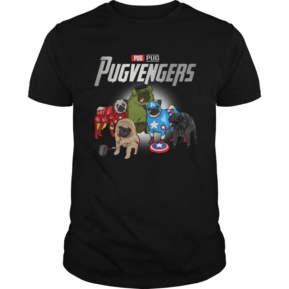 Marvel Pugvengers Pug Version Guy Tees