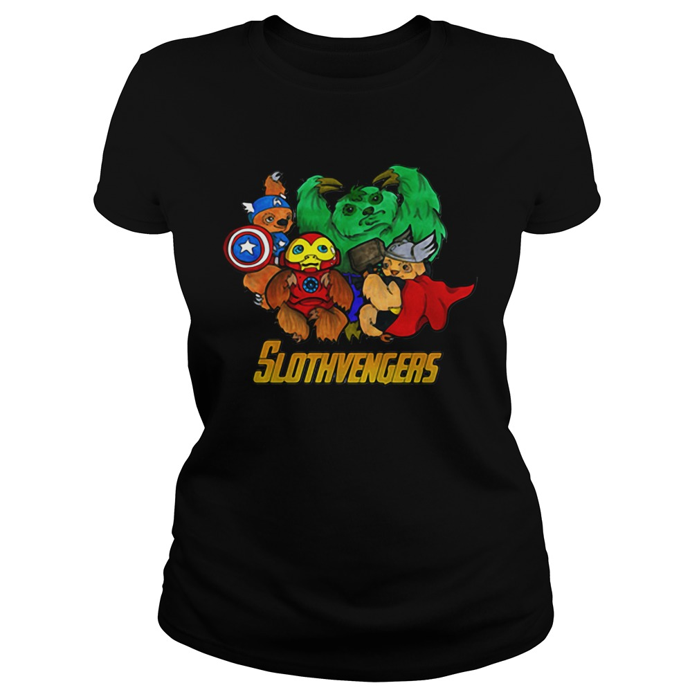 Marvel Slothvengers Sloth Version Ladies Tee