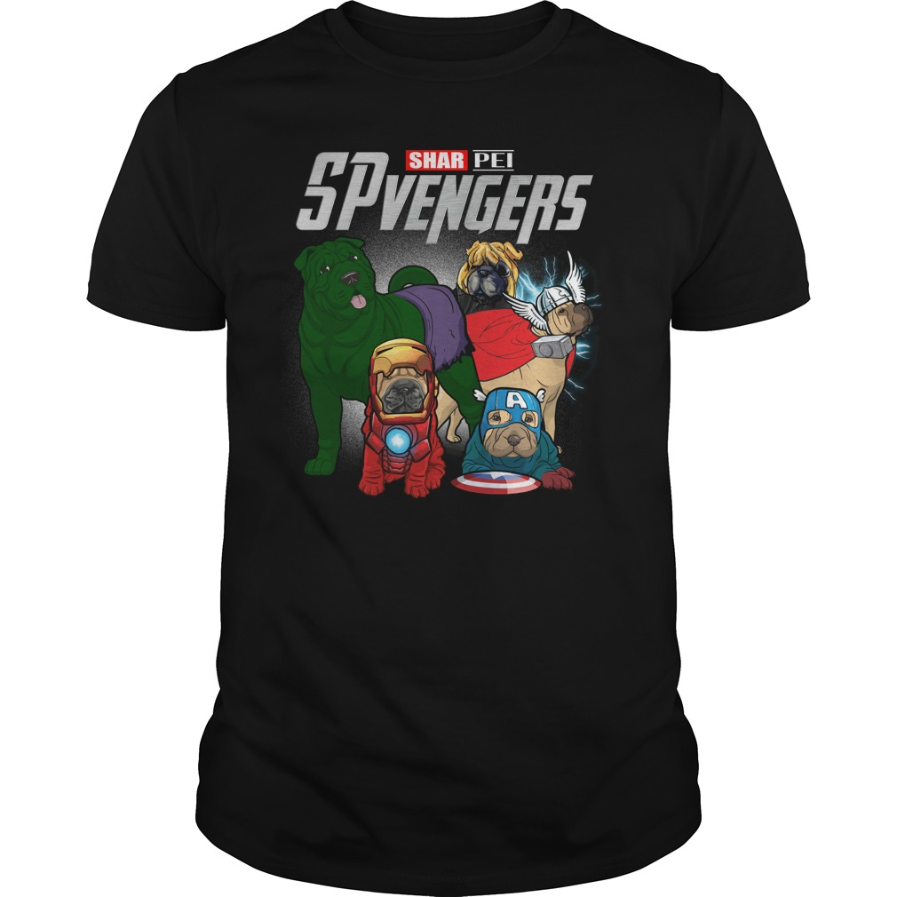 Marvel Spvengers Shar Pei Version Guy Tees