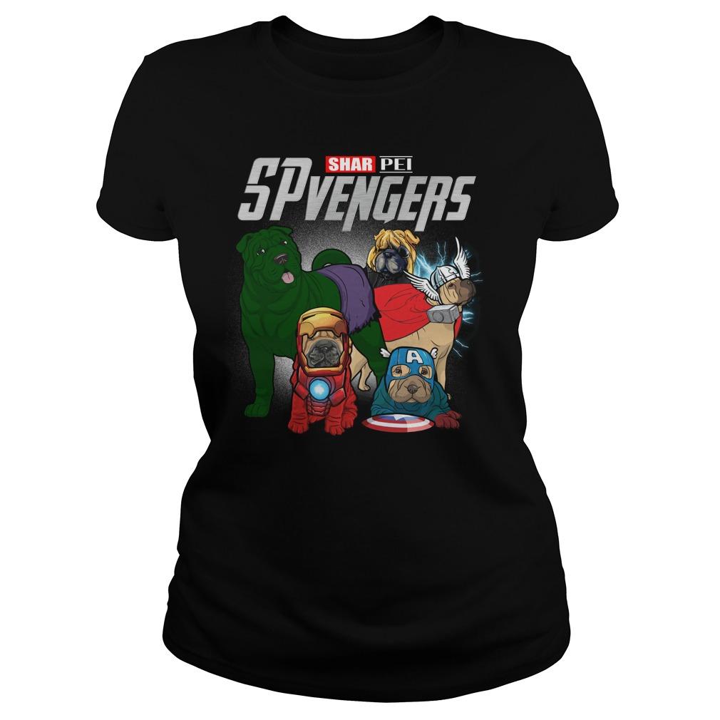 Marvel Spvengers Shar Pei Version Ladies Tee