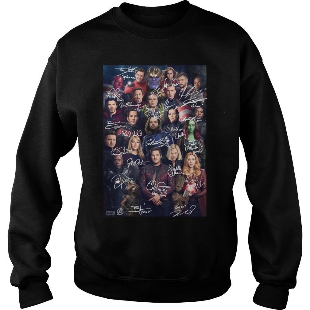 Marvel Universe Endgame Avengers Signature Sweater