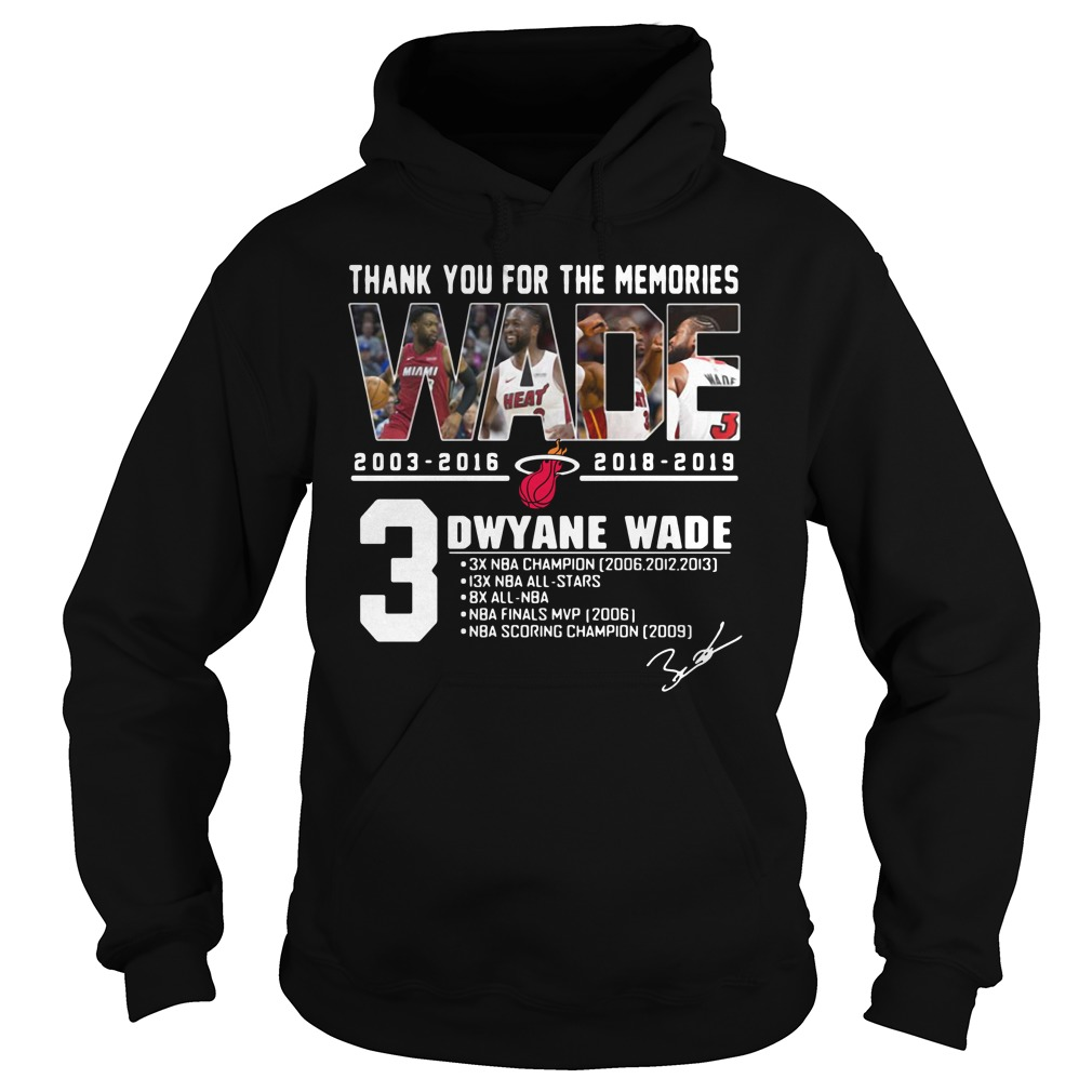 Miami Heat Dwyane Wade Thank You For The Memories Hoodie