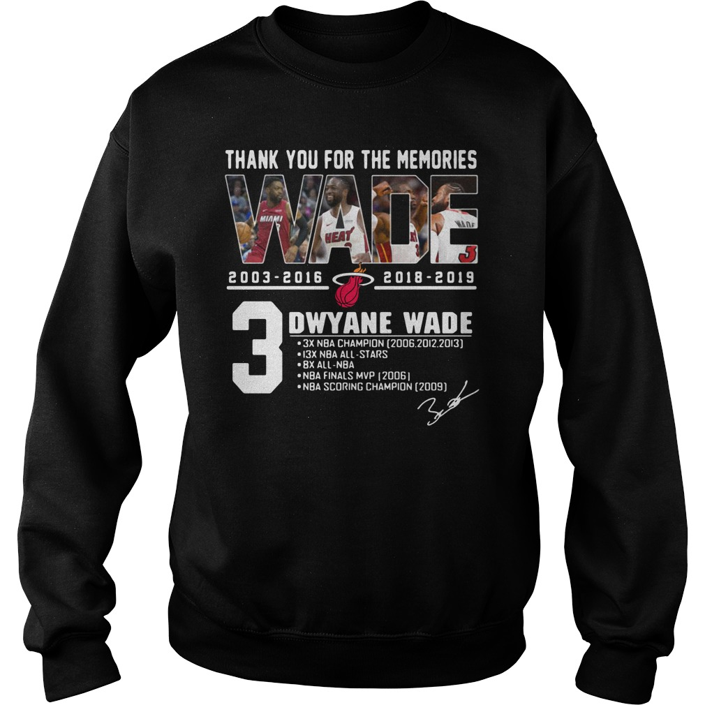 Miami Heat Dwyane Wade Thank You For The Memories Sweater