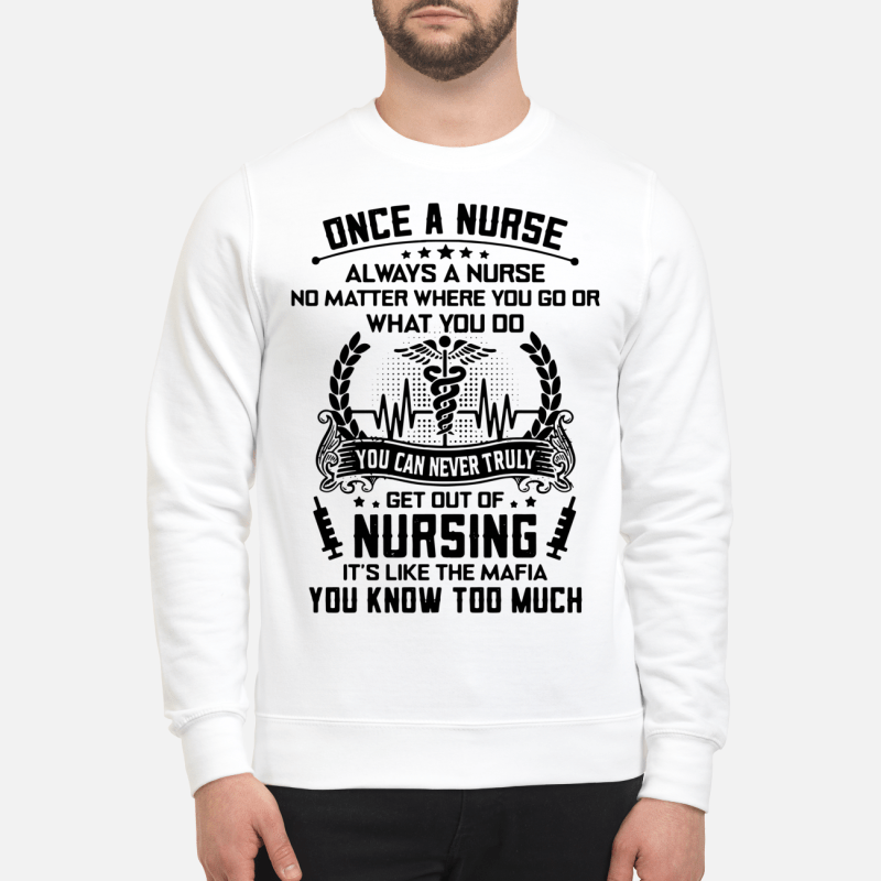 Once A Nurse Always A Nurse No Matter Where You Go Or What You Do Sweater