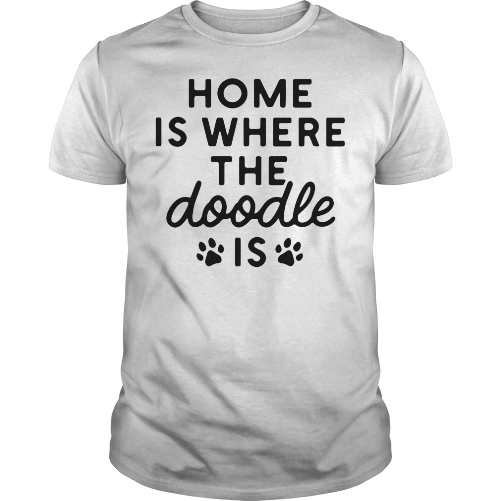 Paws Home Is Where The Doodle Is Guy Tees