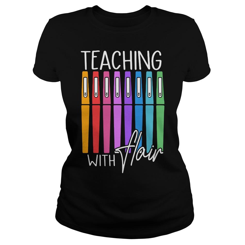 Pen Color Teaching With Hair Ladies Tee
