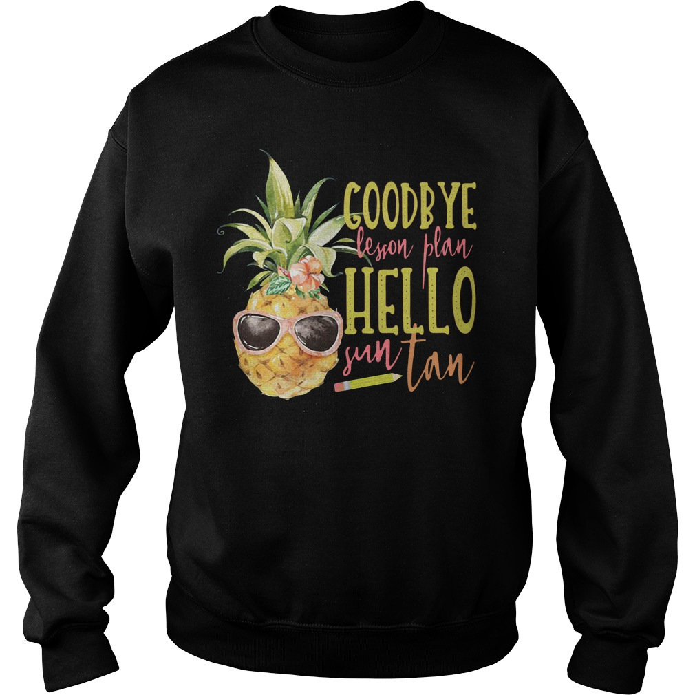 Pineapple Goodbye Lesson Plan Hello Sun Tan Sweater