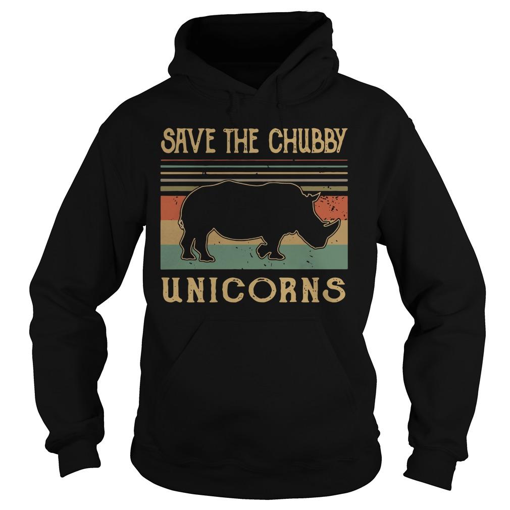 Rhino Save The Chubby Unicorns Hoodie