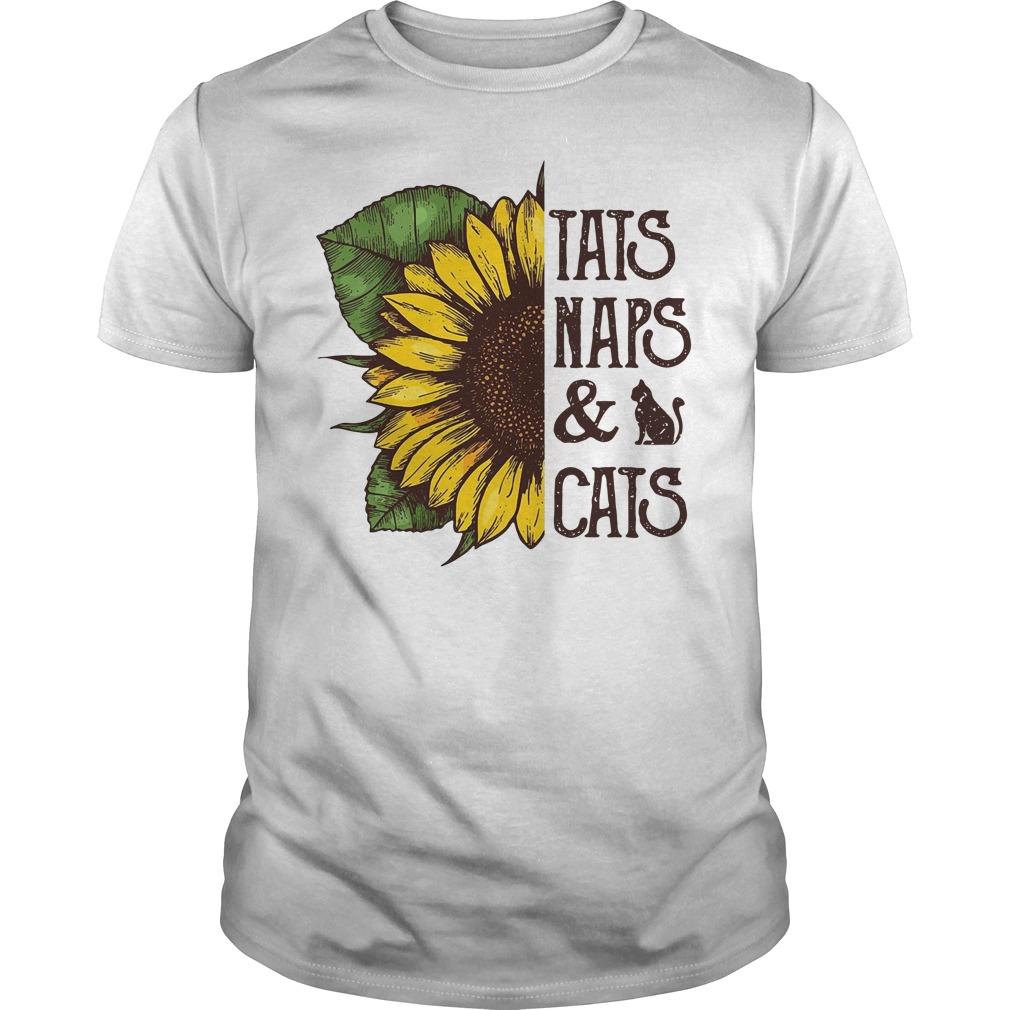 Sunflower Tats Naps & Cats Guy Tees