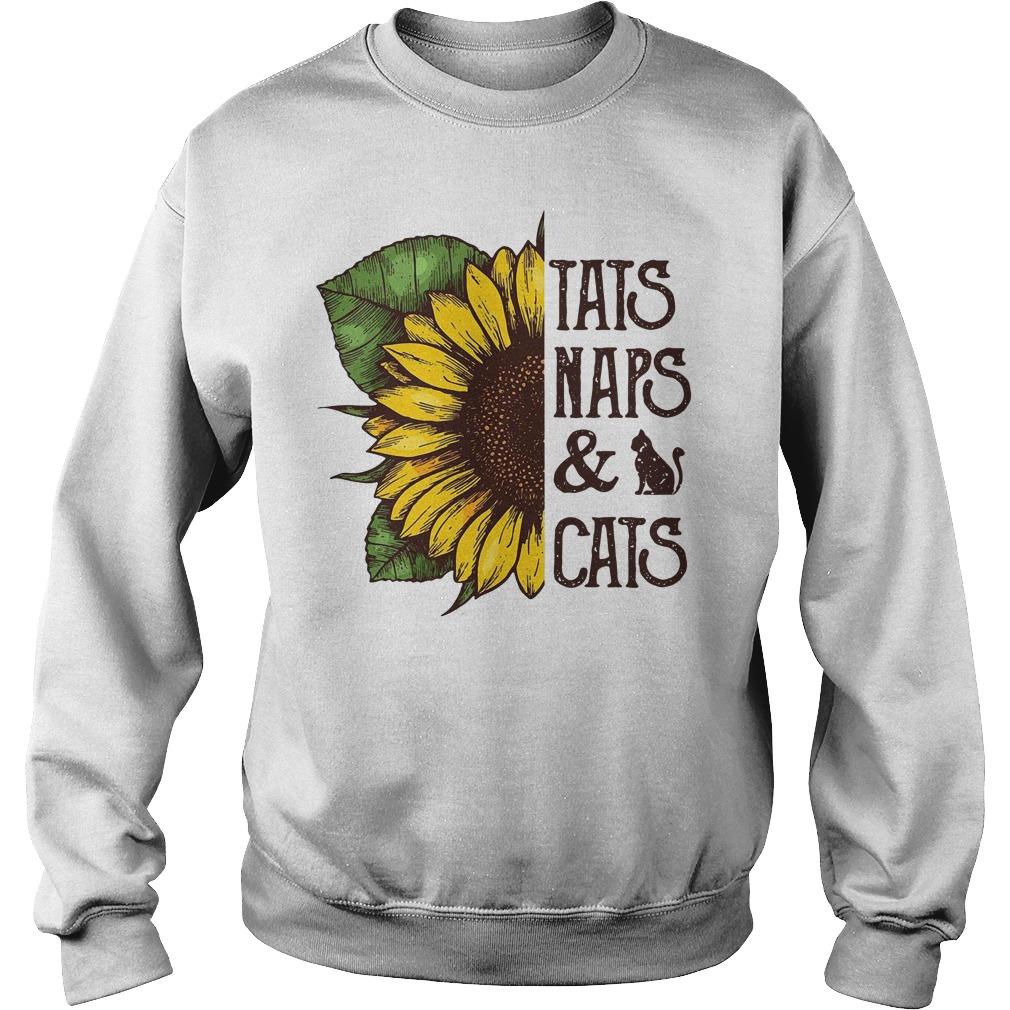 Sunflower Tats Naps & Cats Sweater