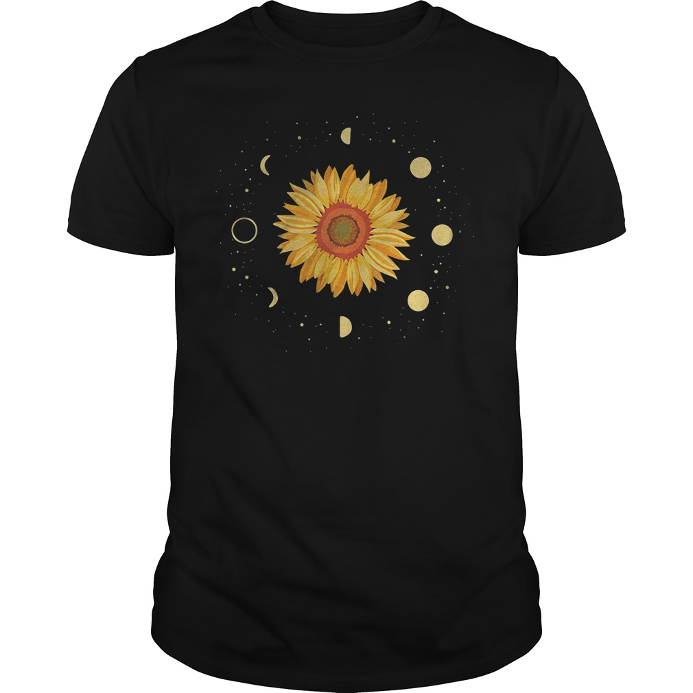 Sunflower Universe In The Galaxy With Planets Guy Tees