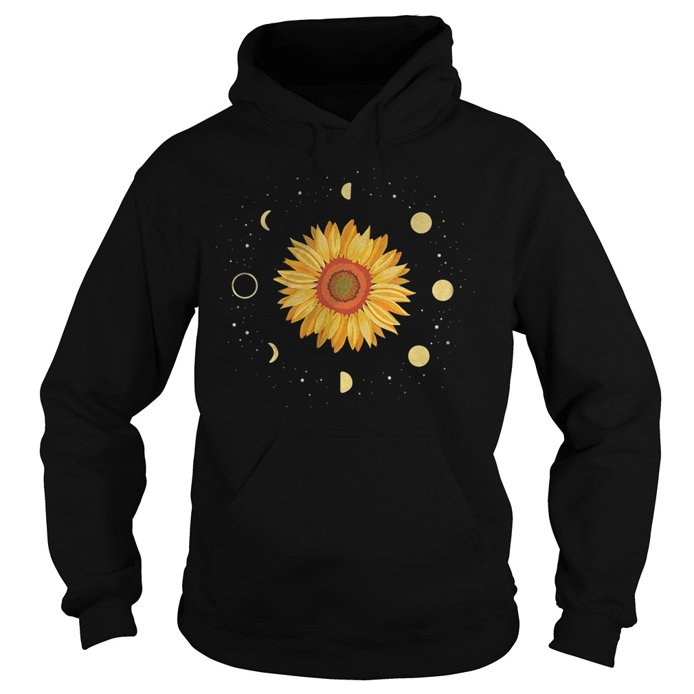 Sunflower Universe In The Galaxy With Planets Hoodie
