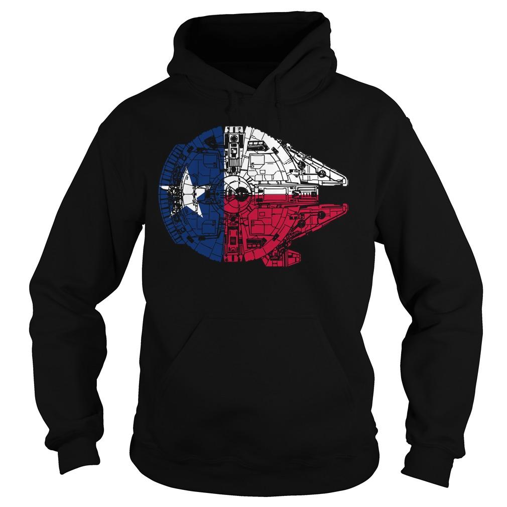 Texas Flag Millennium Falcon Hoodie