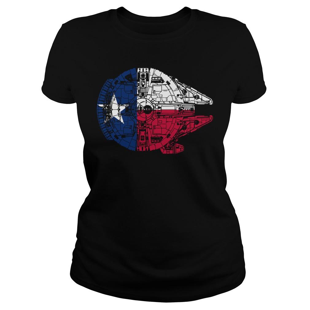 Texas Flag Millennium Falcon Ladies Tee