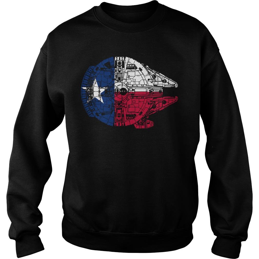 Texas Flag Millennium Falcon Sweater