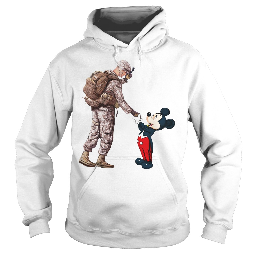 Thankful Veteran Disney Mickey Mouse Hoodie