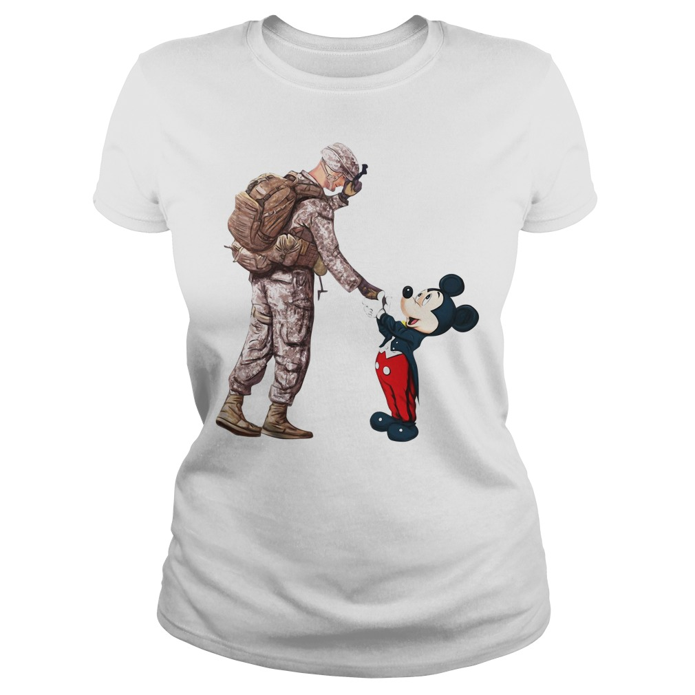 Thankful Veteran Disney Mickey Mouse Ladies Tee