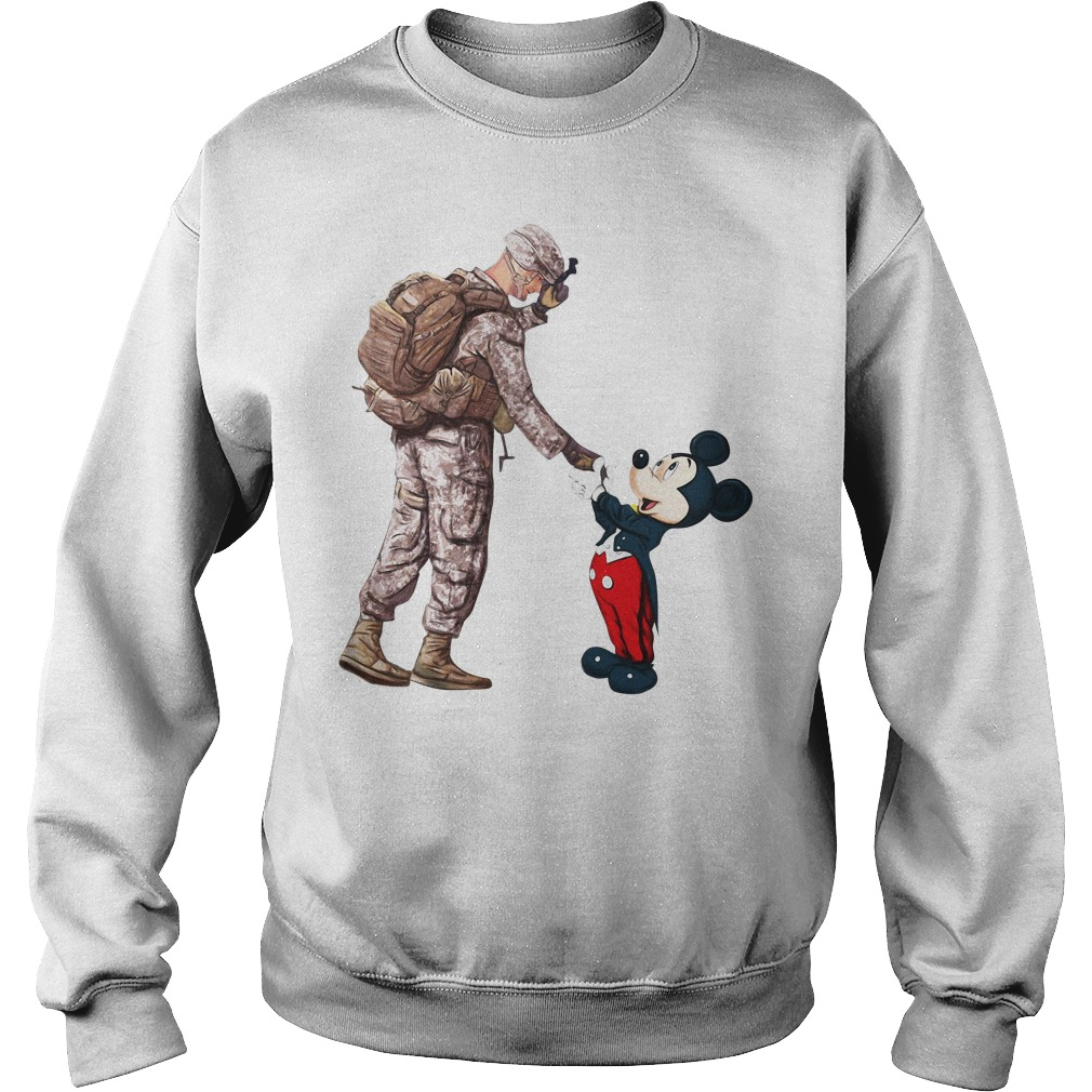 Thankful Veteran Disney Mickey Mouse Sweater