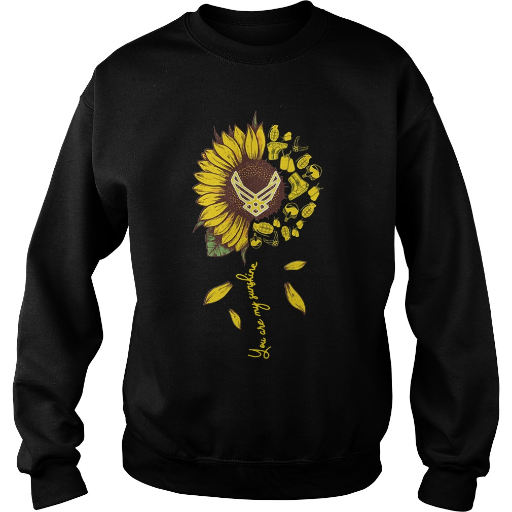 Us Air Force Sunflower You Are My Sunshine Sweater