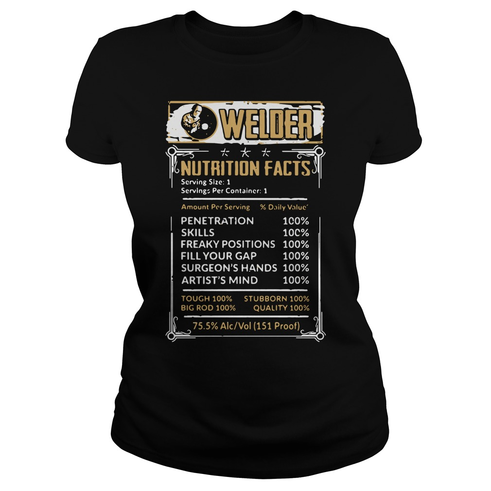 Welder Nutrition Facts Ladies Tee