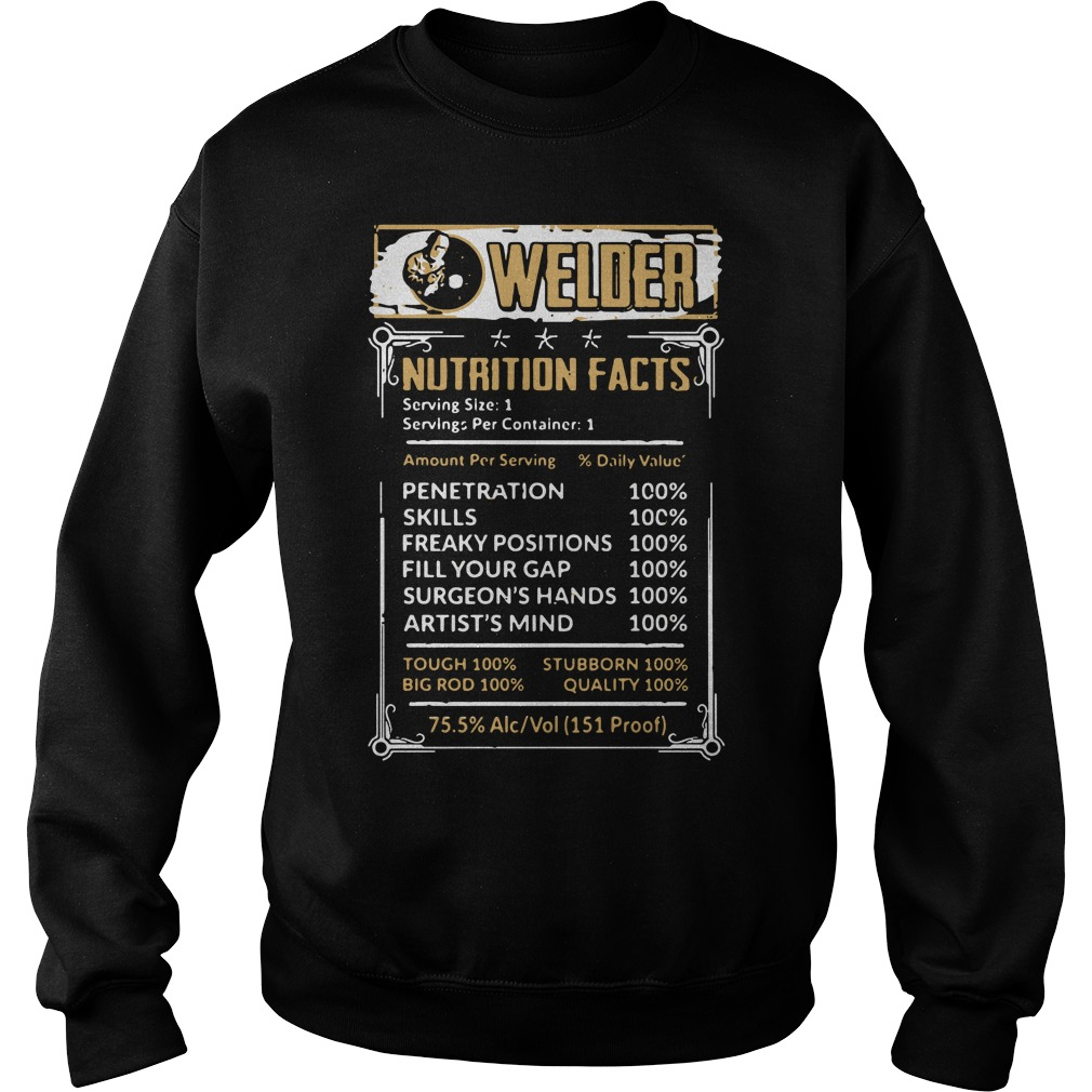 Welder Nutrition Facts Sweater
