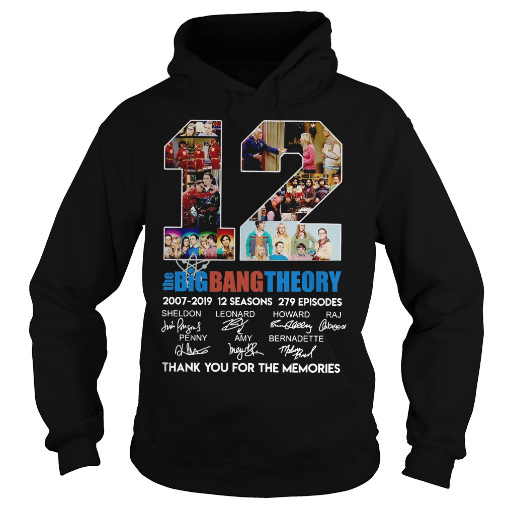 12 The Big Bang Theory 2007-2019 Thank You For The Memories Hoodie