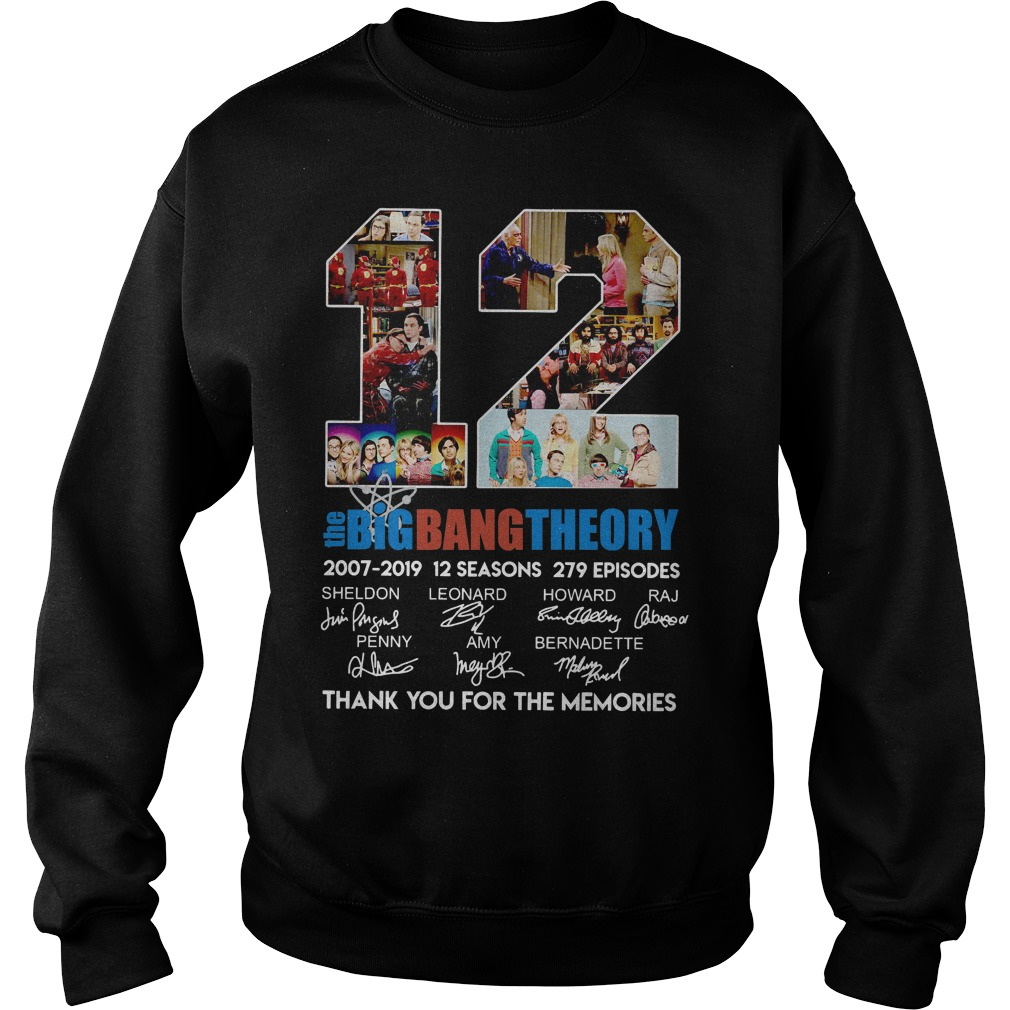 12 The Big Bang Theory 2007-2019 Thank You For The Memories Sweater