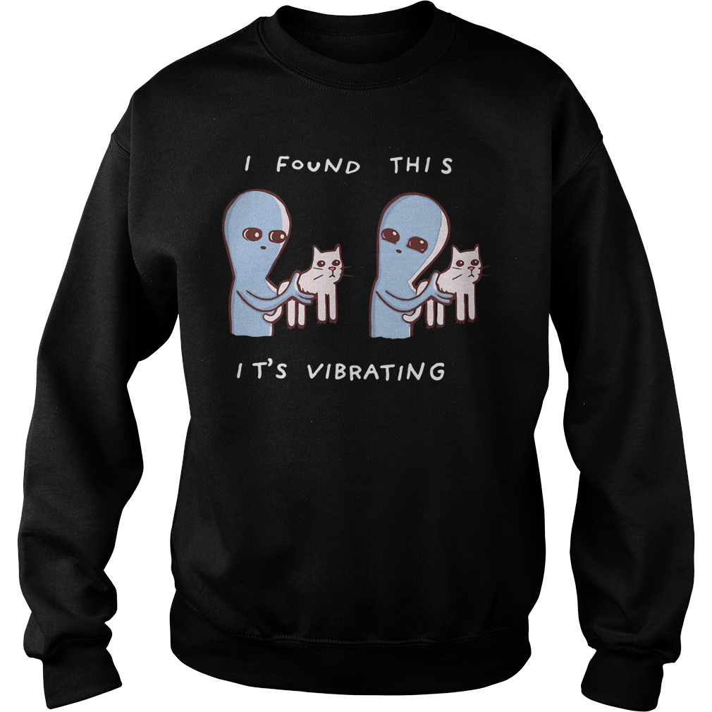 Alien Cat I Found This It'S Vibrating Sweater