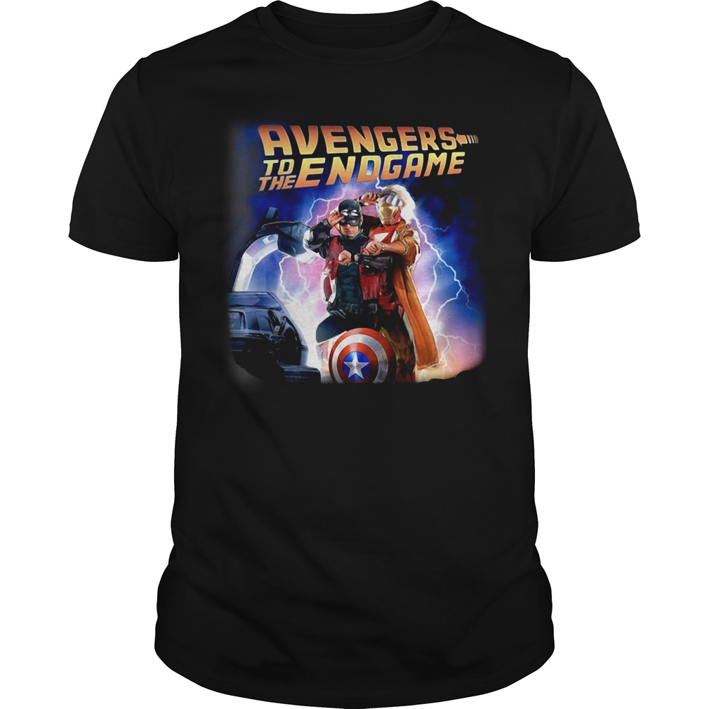 Back To The Future Avengers To The Endgame Guy Tees