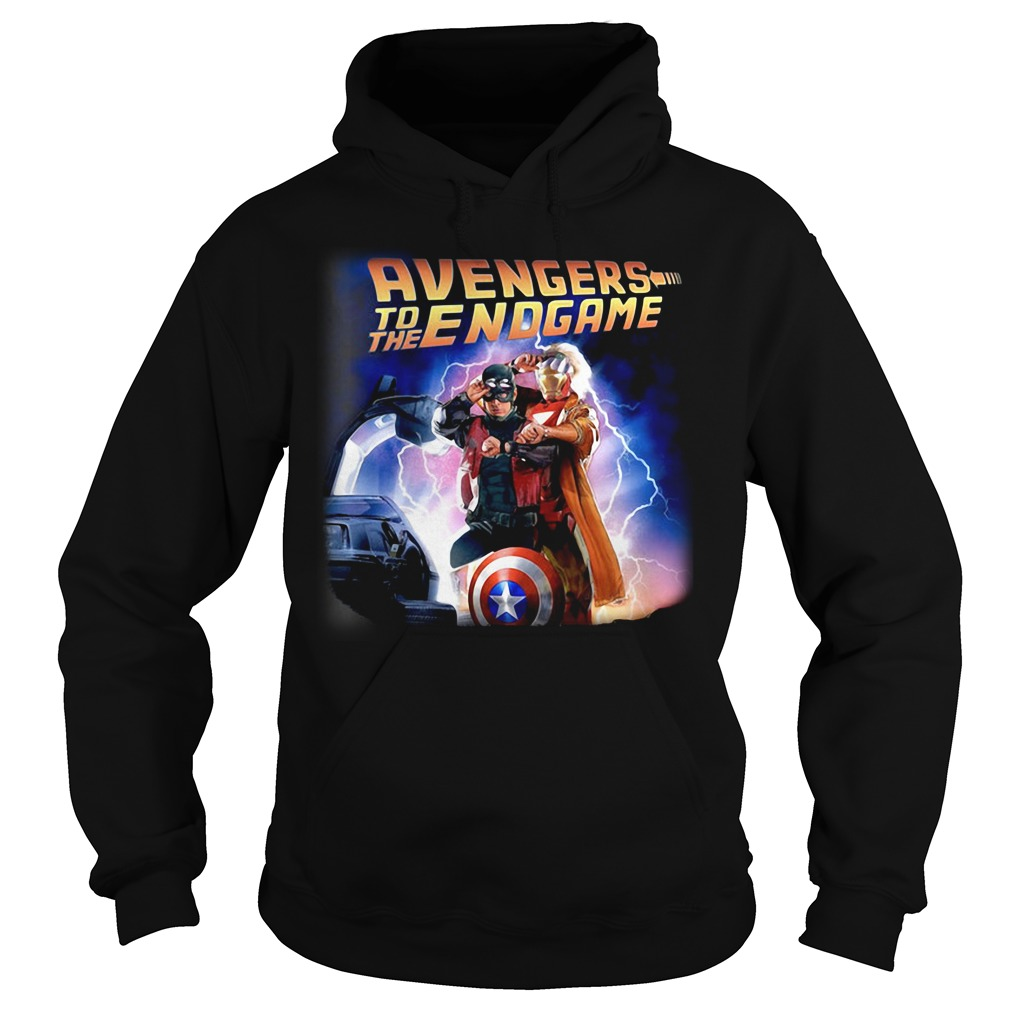 Back To The Future Avengers To The Endgame Hoodie