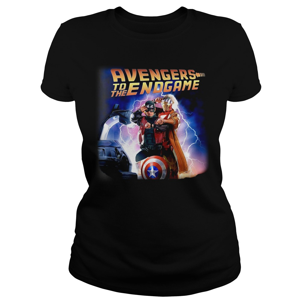 Back To The Future Avengers To The Endgame Ladies Tee