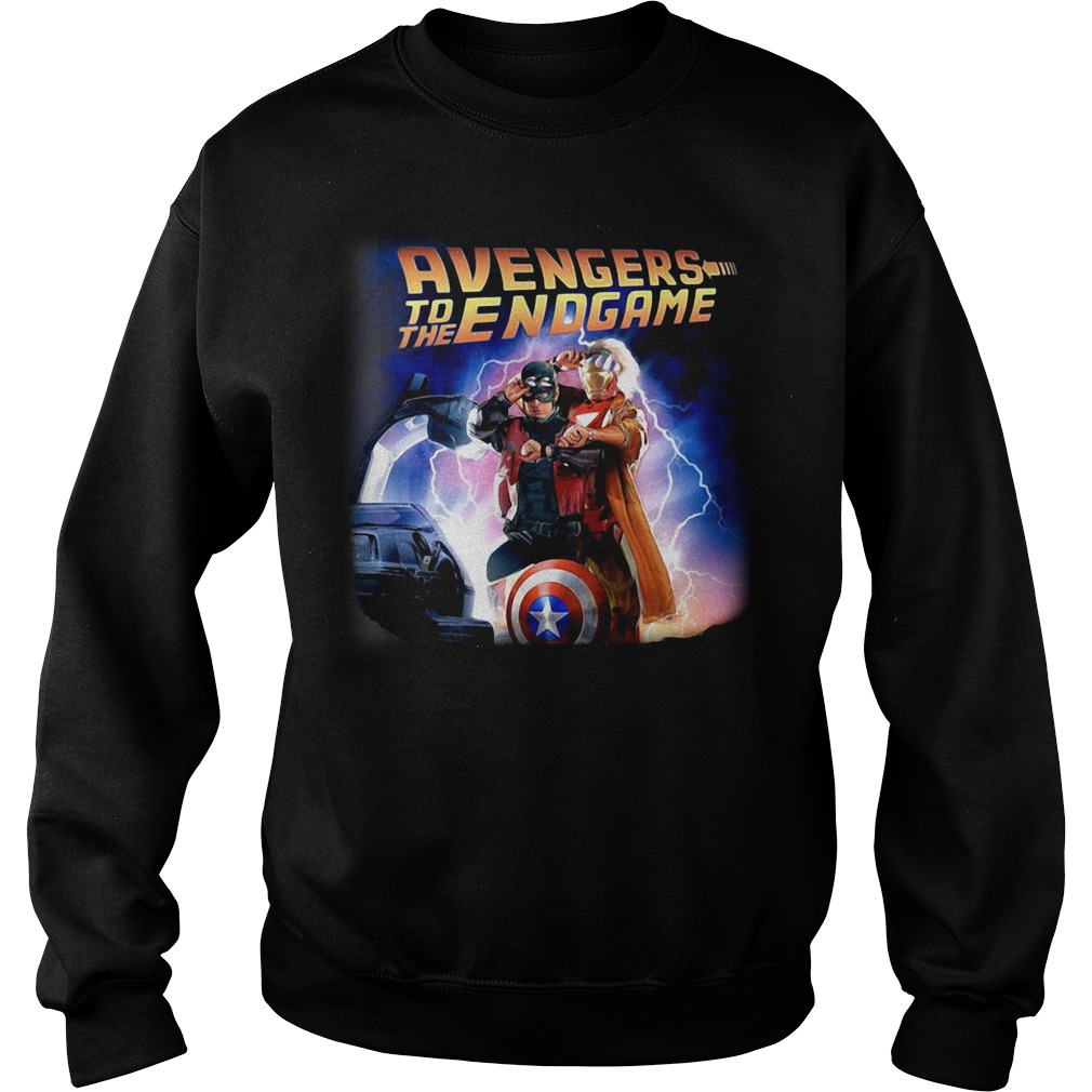 Back To The Future Avengers To The Endgame Sweater