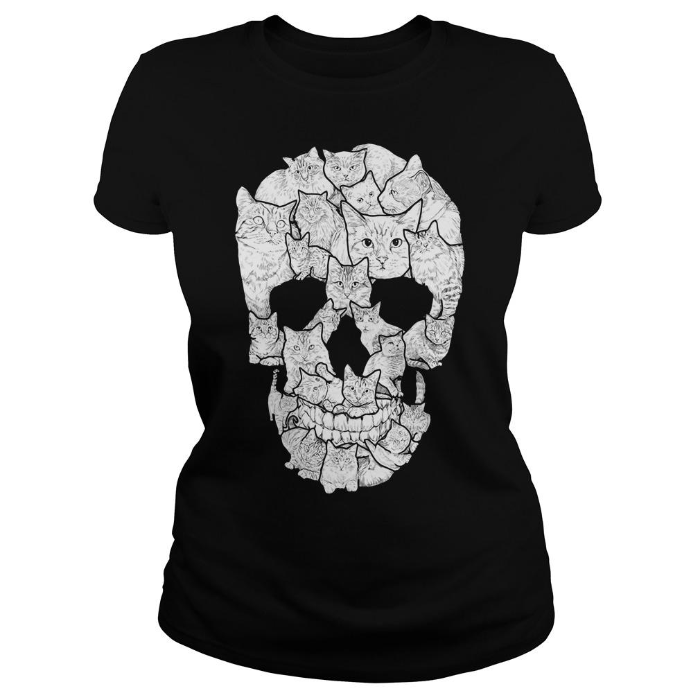 Cat Skull Shirt Sweater Hoodie Tank Top And Long