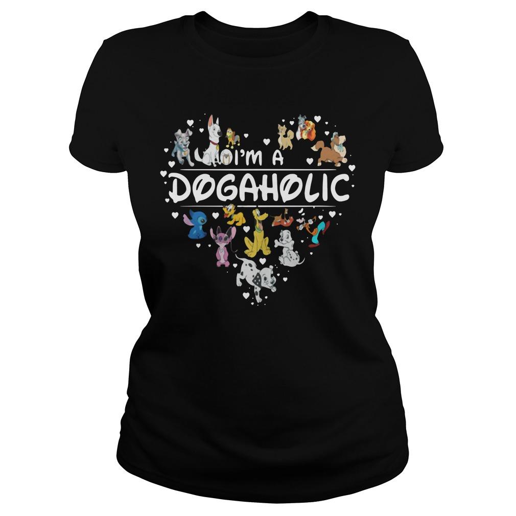 Disney Heart Of Dogs I'M A Dogaholic Ladies Tee