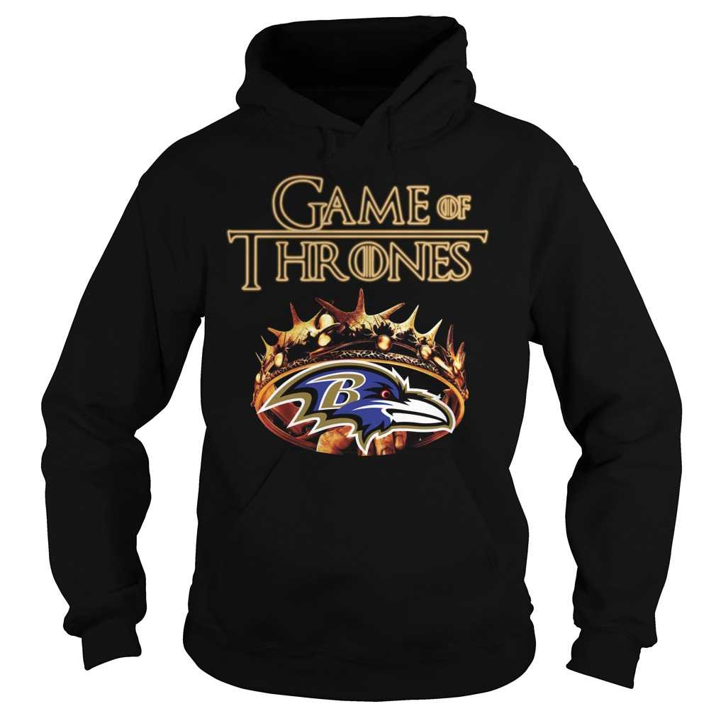 Game Of Thrones Baltimore Ravens Mashup Hoodie