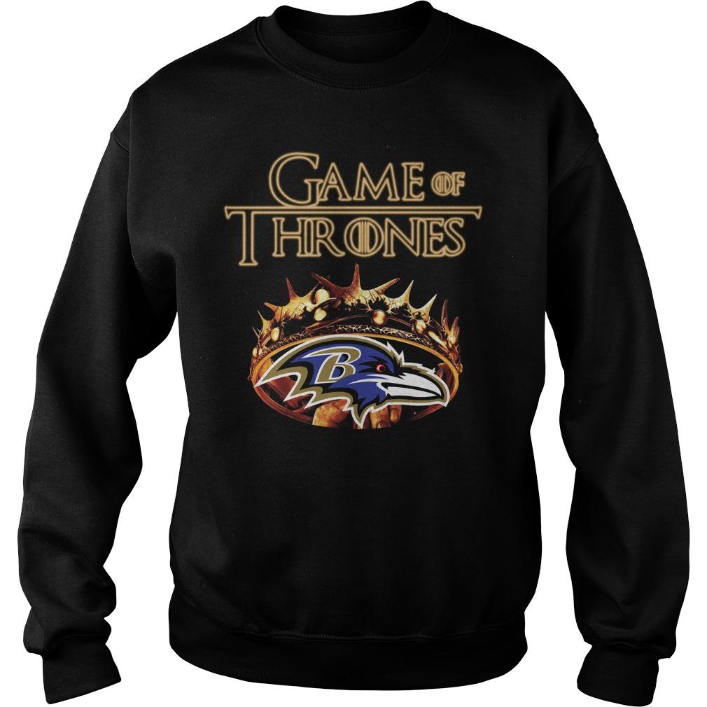 Game Of Thrones Baltimore Ravens Mashup Sweater