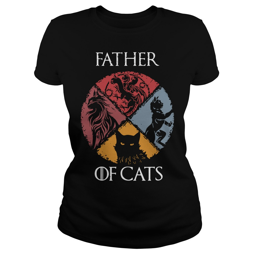 Game Of Thrones Father Of Cats Ladies Tee