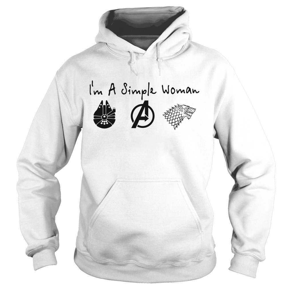 I'M A Simple Woman I Like Death Star Star Wars Avengers And House Stark Hoodie