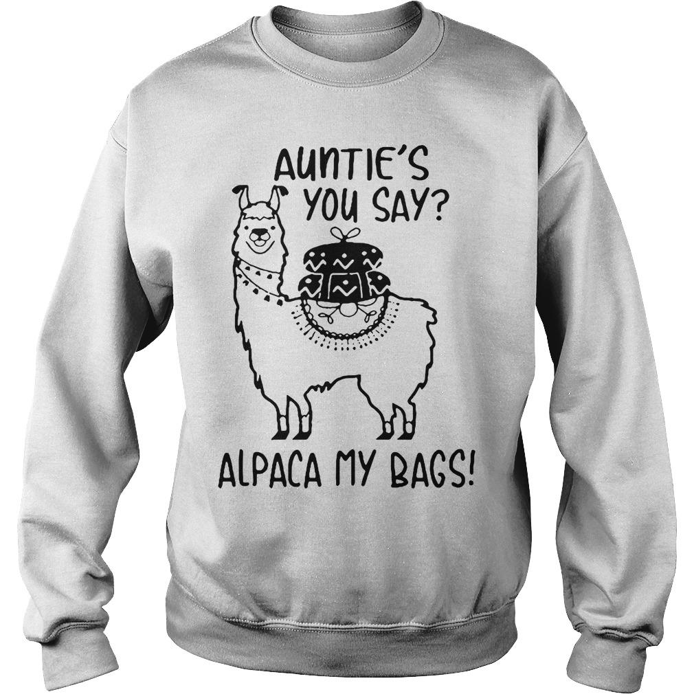 Llama Autie'S You Say Alpaca My Bags Sweater