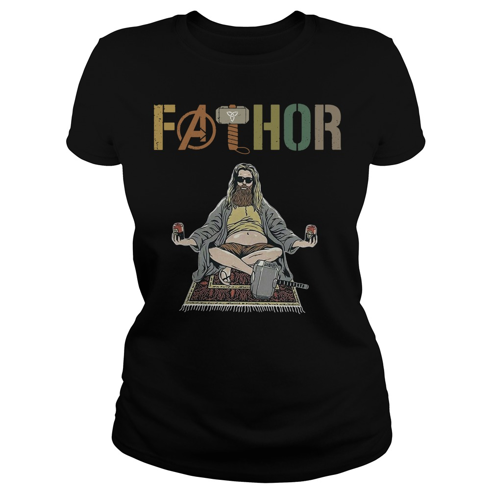 Marvel Avenger Endgame Fat Thor Fathor Ladies Tee