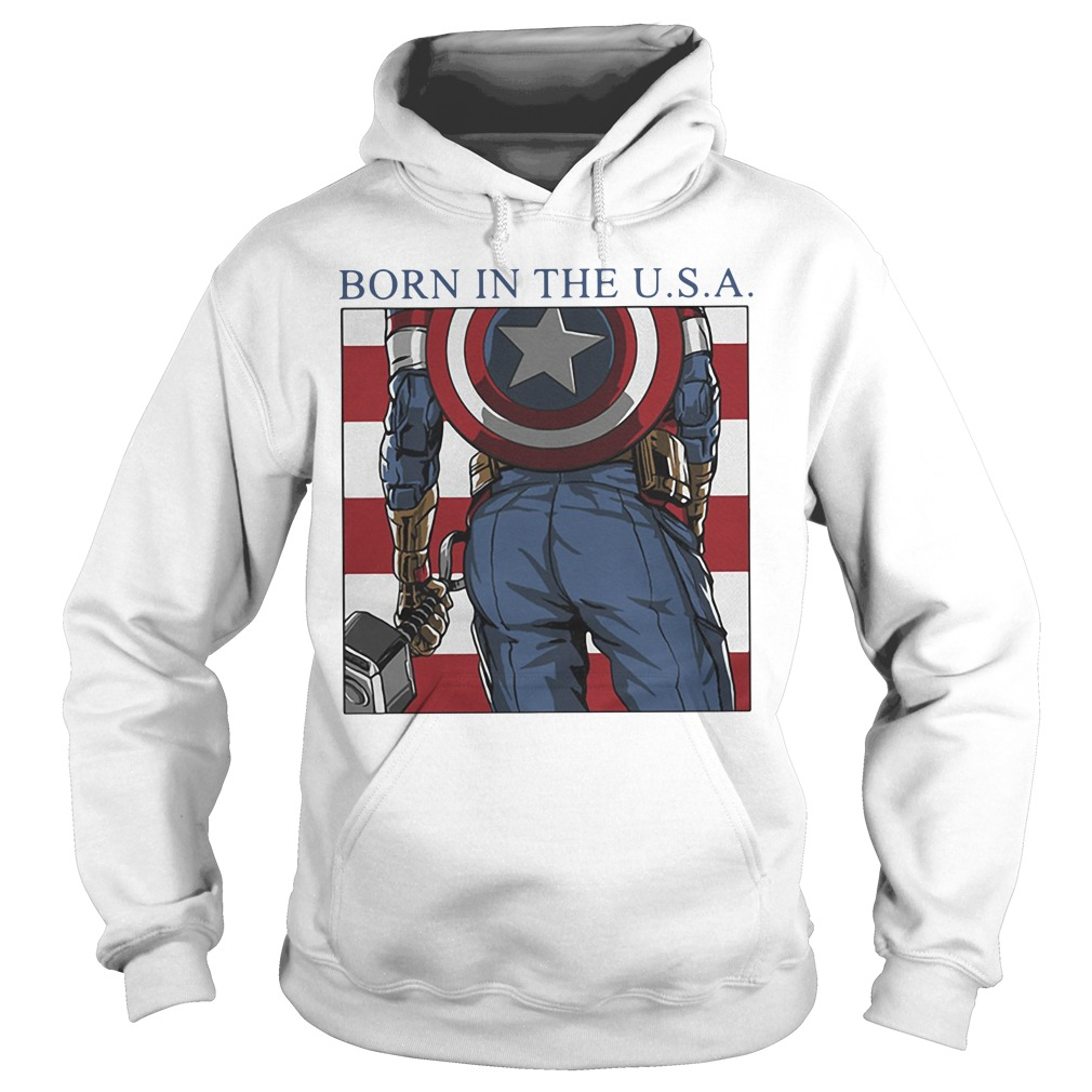 Marvel Avengers Captain American Born In The Usa Hoodie