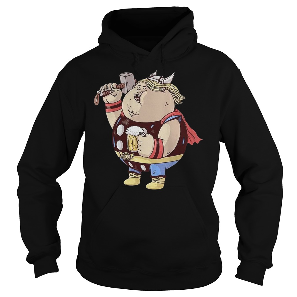 Marvel Avengers Endgame Fat Thor And Beer Hoodie