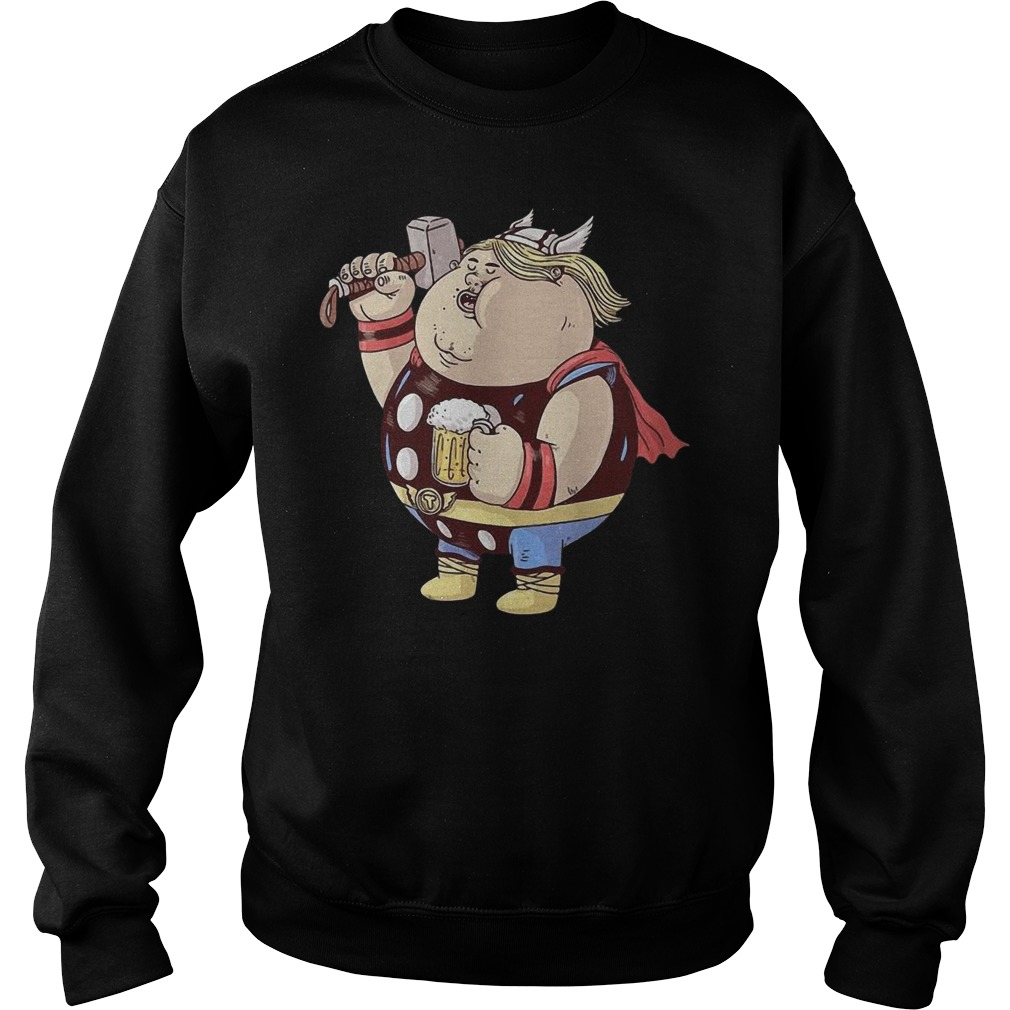 Marvel Avengers Endgame Fat Thor And Beer Sweater