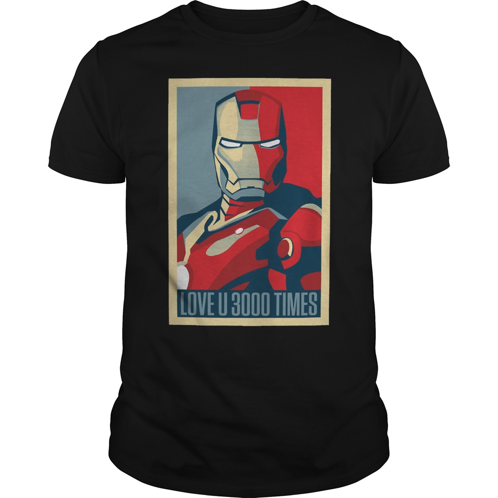 Marvel Avengers Endgame Ironman Love U 3000 Times Guy Tees