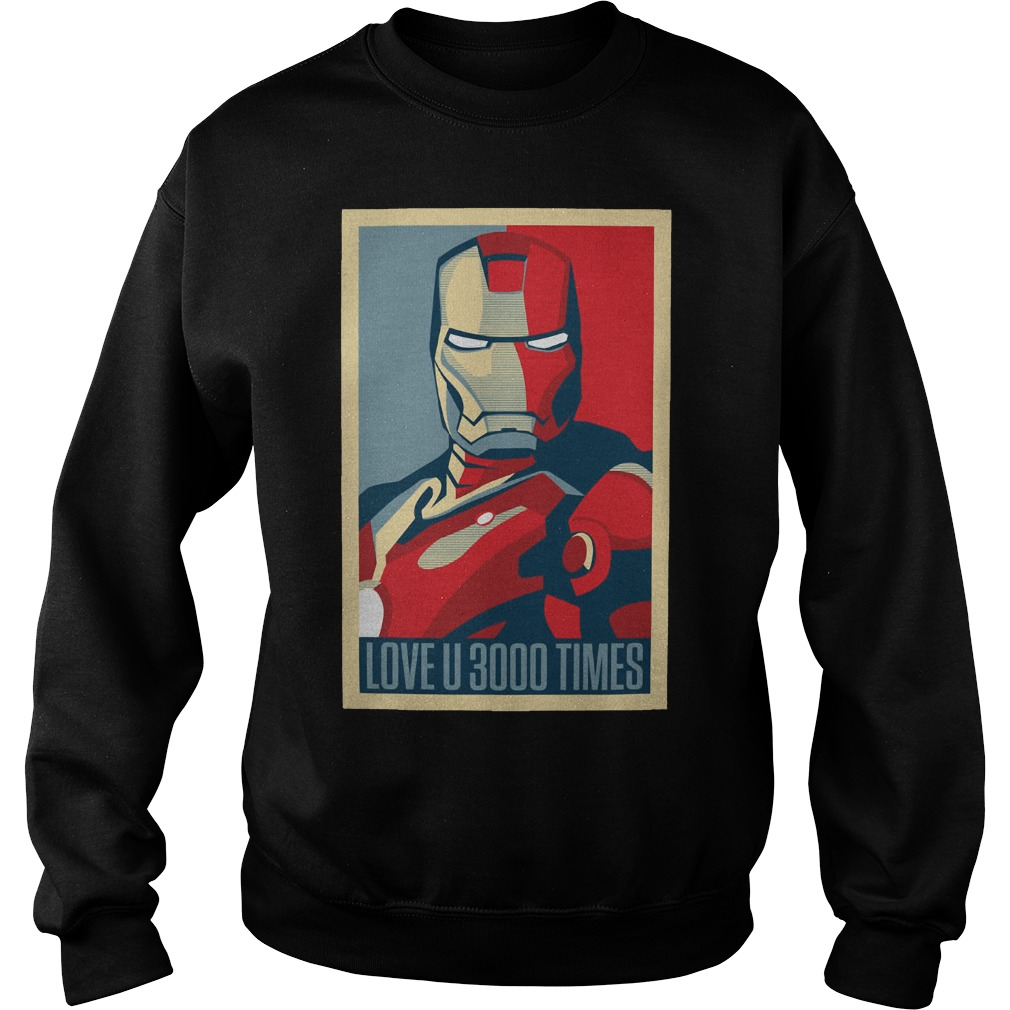 Marvel Avengers Endgame Ironman Love U 3000 Times Sweater