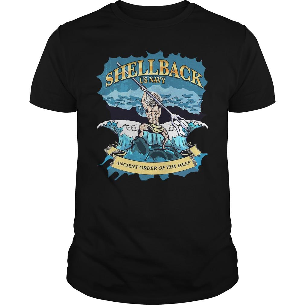 Poseidon Shellback Us Navy Ancient Order For The Deep Guy Tees
