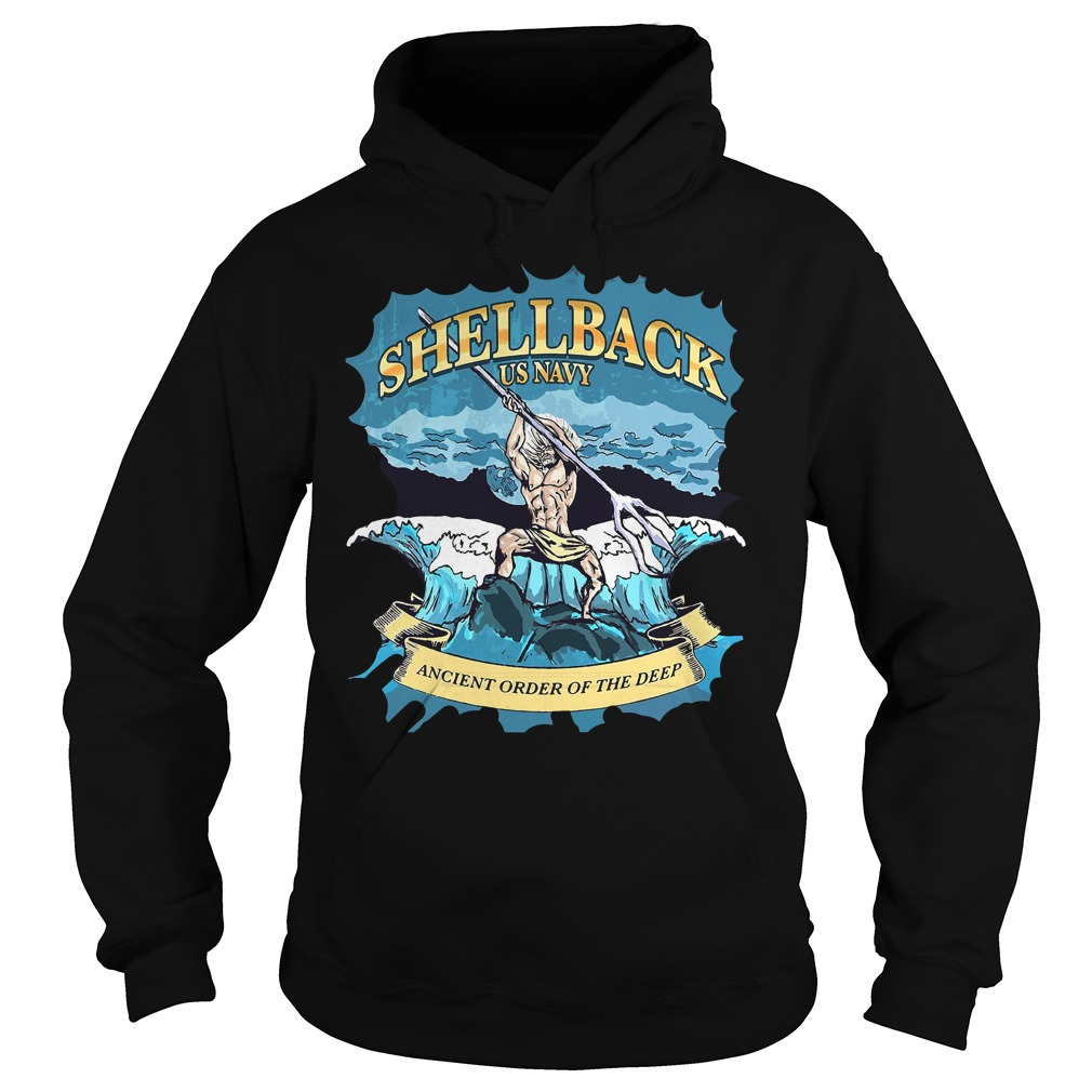 Poseidon Shellback Us Navy Ancient Order For The Deep Hoodie