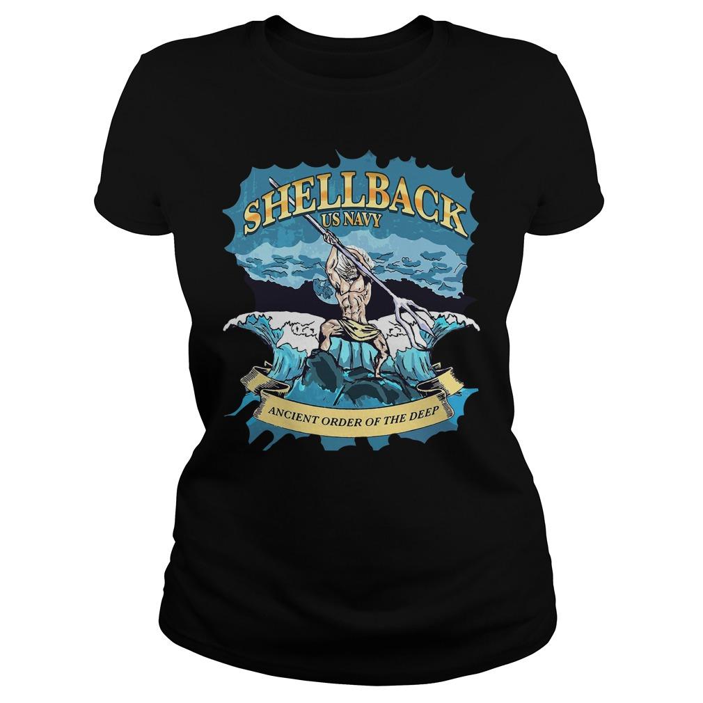 Poseidon Shellback Us Navy Ancient Order For The Deep Ladies Tee