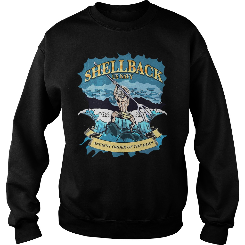 Poseidon Shellback Us Navy Ancient Order For The Deep Sweater